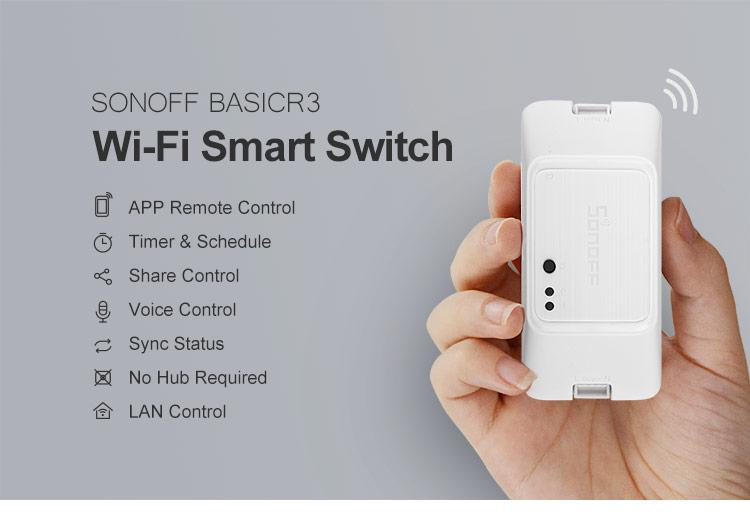 SONOFF BASICR3 - Inteligentný WiFi spínač