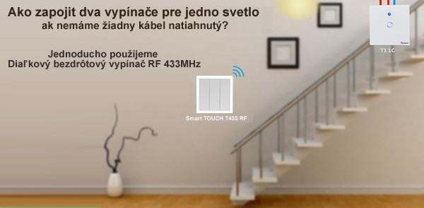 Diaľkový bezdrôtový vypínač RF 433MHz - 2 kanálový
